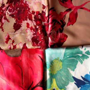 Poly Print Silk Fabric (XY-2014095B) pictures & photos