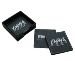 High-Class Gift Set Leather Mat Coaster for Promotion (B4005) pictures & photos