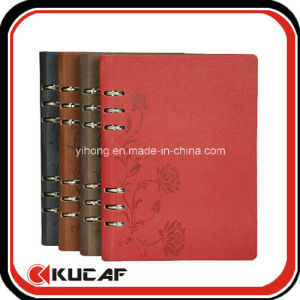 Custom Different Size Loose Leaf PU Journal Diary Notebook pictures & photos