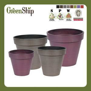 Home Garden Decorative Plastic Floral Plant Pot Mm Series