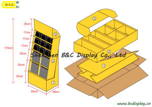 Cardboard Display Stand, Paper Display Rack, Counter Stand Display, Gift Box (B&C-A057) pictures & photos