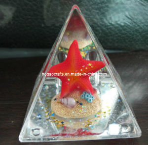 OEM Plastic Conical Snow Globe Pen Holder pictures & photos