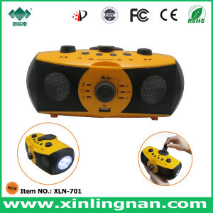 Multifunctional Portable Hand Crank Music Player Box, Outdoor Use (XLN-701)