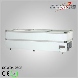 European Design 780L Jumbo Freezer with Chorme Corner pictures & photos