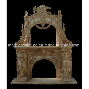Hand Carved Beige Antique Marble Fireplace (SY-MF124) pictures & photos