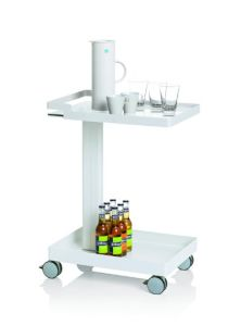 Uispair 100% Steel Tow-Layers Kitchen Hospital Meeting Room Items Storage Rack pictures & photos