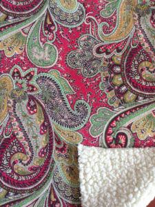Sherpa Fur Bonding Fabric with Printed Micro Suede (ESFH-585) pictures & photos