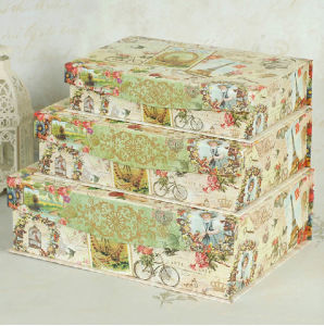 Exquisite Printing Paper Nesting Box with Magnet Flap Lid pictures & photos