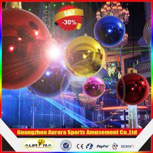 Colorful Inflatable Mirror Ball, Golden Color Inflatable Advertising Mirror Ball