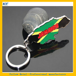 Enamel Jamaica Flags Keyring Tourist Souvenirs Key Holder Jamaica Key Chain pictures & photos