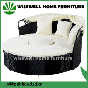 Outdoor Patio Sofa Furniture Round Retractable Canopy Daybed (WXH 007)