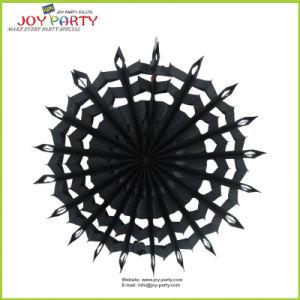 Black Hanging Snowflake Paper Fans