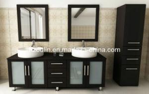 Double Sink Wooden Bathroom Vanity (BA-1119) pictures & photos