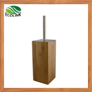 Bamboo Wooden Stainless Steel Bathroom Toilet Brush and Holder Set pictures & photos