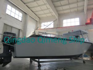28FT 8.6m Center Cabin Aluminum Cargo Boat with Hardtop pictures & photos