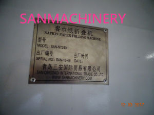 High Quality Embossing Napkin Paper Folder pictures & photos