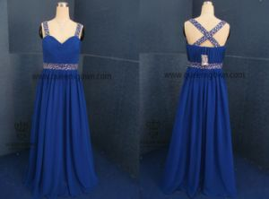 A-Line/Princess Floor-Length Chiffon Evening Dress with Ruffle Beading Sequins