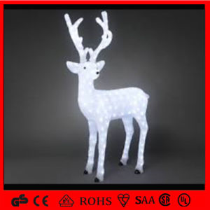 White Outdoor Decoration Light Acrylic 3D Motif Christmas Reindeer pictures & photos