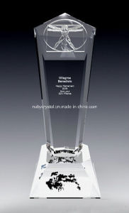 10 Inch Tall D Vinci Crystal Award Trophy (DV1N) pictures & photos