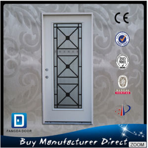Full Lite Glass Steel Door Entry Wrought Iron pictures & photos