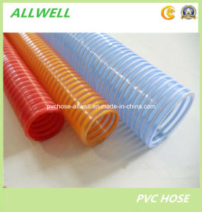 PVC Plastic Reinforced Spiral Suction Powder Water Garden Pipe Hose pictures & photos