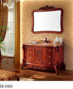Classical Bathroom Cabinet Series with Square Mirror pictures & photos