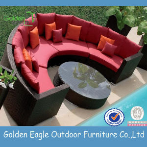 Modern Rattan Outdoor Half Round Sectional Sofa pictures & photos