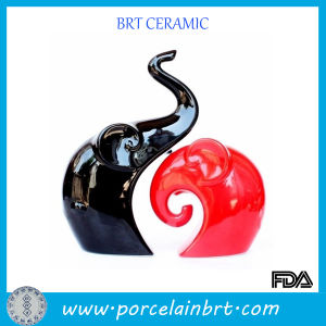 Black and Red Love Elephant Porcelain Wedding Decoration pictures & photos