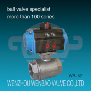 Pneumatic Actuated Two Piece BSPT AISI316 Ball Valve pictures & photos
