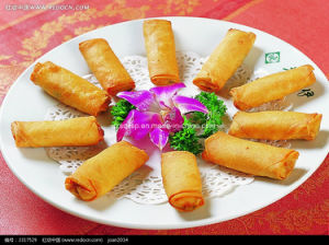 50g Cylinder-Shaped Vegetable Spring Rolls pictures & photos