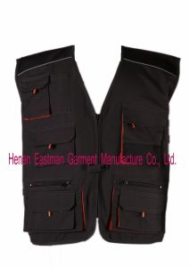 Industrial Workwear Canvas Vest Fishing Vest pictures & photos