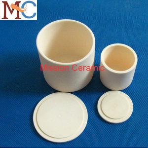 High Purity 99.7% Al2O3 Refractory Alumina Ceramic Crucibles with Lid pictures & photos