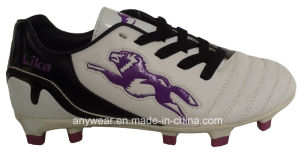 Children Soccer Football Boots with TPU Outsole Shoes (415-3408) pictures & photos