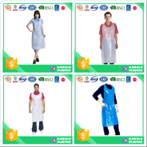PE Disposable Plastic Cooking Apron for Adults pictures & photos
