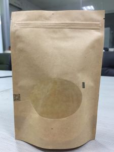 Kraft Paper with Zipper and Clear Window Stand up Paper Bag pictures & photos