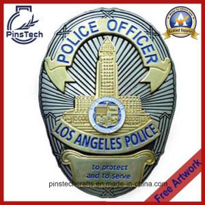High Quality Police Officer Badge With2-Tone Plating pictures & photos