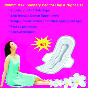 Hot Sale 280mm Maxi Feminine Pad for Day and Night Use pictures & photos