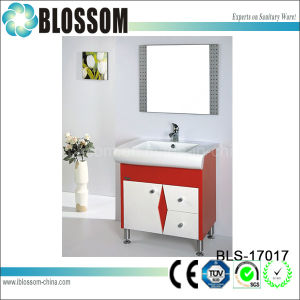 Bright Colored PVC Bathroom Vanity Cabinet (BLS-17017) pictures & photos
