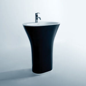 Acrylic Solid Surface Pedestal Basin pictures & photos