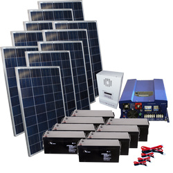 6000 Watts Home Electricity Energy Solar Power System in Total pictures & photos