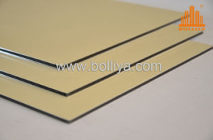 Acm for 3mm/4mm/Weatherable Wood Panels/Building Screen Panels Mt-2827 Champagne Golden pictures & photos