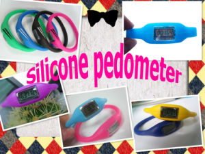 OEM New Silicone Ion Pedometer Watch pictures & photos