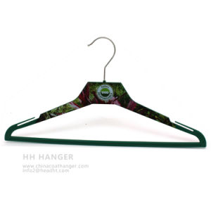 Body Printed Plastic Clothes Hangers for Custome Printing Design Coat pictures & photos