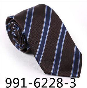 Fashionable Striped Silk/Polyester Gift Tie (6224-1) pictures & photos