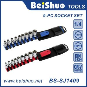 """9-PC professional Handtools 1/4"""" Drive Socket Set with Plastic Hanger pictures & photos"""