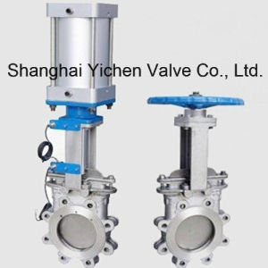 Pneumatic Lug Stainless Steel Knife Gate Valve pictures & photos
