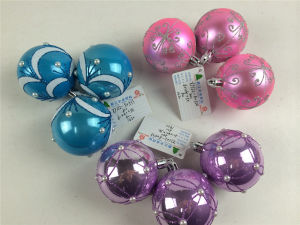 Christmas Shiny/Glitter/Matt Ball with Beautiful Hand-Painted Pattern (30mm-120mm)