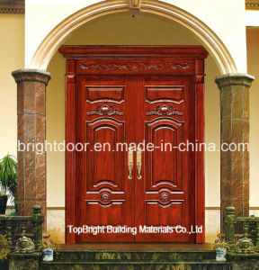 Exterior Main Door Carved Solid Wood Double Door Designs System pictures & photos