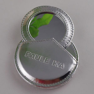 Lady Promotion Pocket Leather Make up Mirror with Logo (B2009) pictures & photos