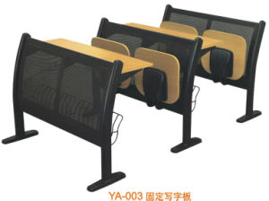Commercial Wood School Desk and Chair for Four People (YA-003) pictures & photos